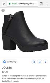 Log Sole Ankle Boots