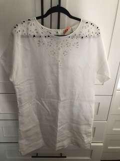 Aritzia (Wilfred) Dress White Linen