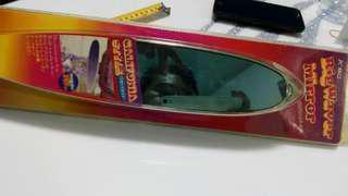 Surf board back mirror chrome