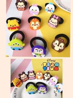 Disney Tsum Tsum不倒翁系列頭髮橡皮圈📮 包郵