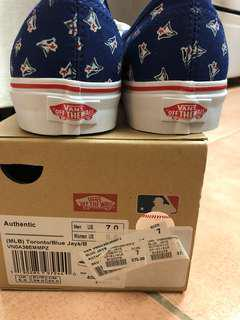 BNIB Vans X Toronto Blue Jays Shoes (8.5 womens/ 7 mens size)