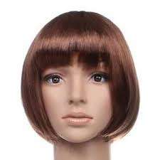 Brown short hair wig (looks real)