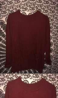 Sweater rajut maroon