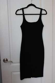 ZARA black midi dress - Size S
