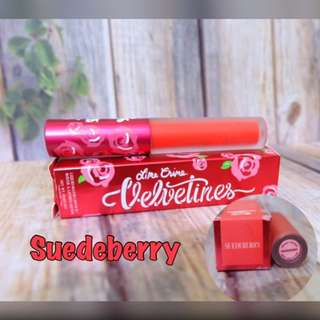 Lime Crime Velvetines ( warna SUEDEBERRY )