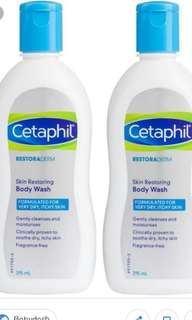 Cetaphil Restoraderm Skin Restoring Body Wash Twin Pack