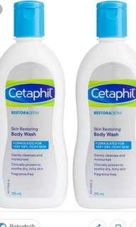 Cetaphil Restoraderm Skin Restoring Body Wash Twin Pack