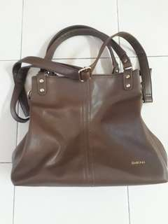 SEMBONIA Synthetic Leather Shoulder Bag