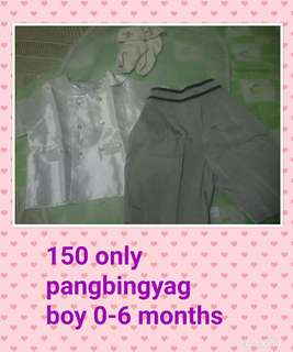 Christening clothes for boy