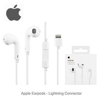 AUTHENTIC Apple Earpods with Lightning Connector For ios earphone iPhone earphone APPLE earpiece apple earbuds lightning earpods lightning earpiece