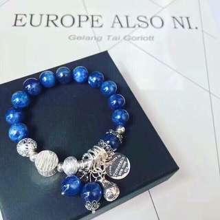 #天然10mm藍晶石手鏈#