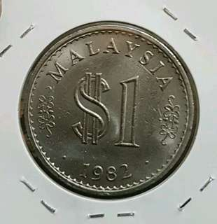 Malaysia Parlimen $1 1983