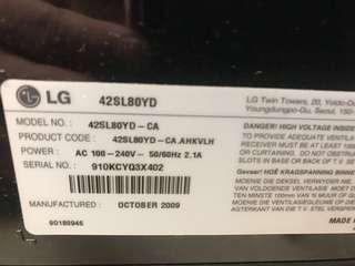 LG 42SL80YD
