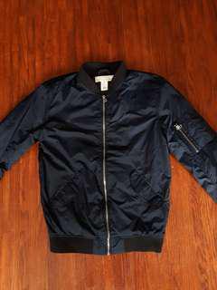 H&M navy bomber jacket