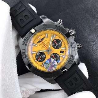 面交Check錶 GF工廠 breitling 百年靈 計時系列 黑鋼 44mm