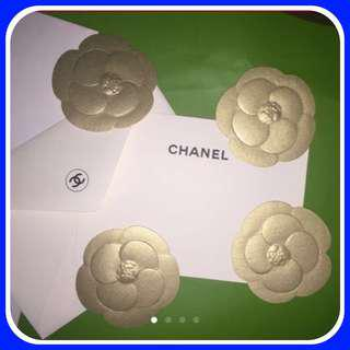⚜️ Chanel Paper Flower GOLD Acessories