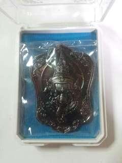 Phra Pikanet (Ganesha) Back Money Tree Roon Pensuk Sumrej Somwang Nur Thong Daeng Phiew Fi (Copper Material) B.E 2561