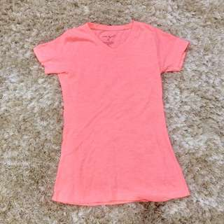 basic tshirt peach