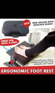Ergonomic Foot Rest with massage beam