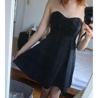 Urban Outfitters Kimchi Blue Little black dress ribbon size XS