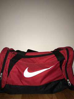 Red Nike Brasilia Duffel Bag