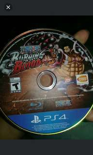 Rush one piece burning blood ps4 game
