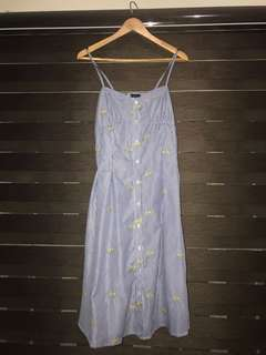 Button Down Cami Dress (Good as new)