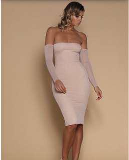 Brand new meshki dress in white