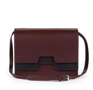 Vivienne Westwood burgundy leather bag