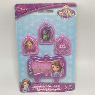 Sofia the First Birthday Candle Set 4pcs