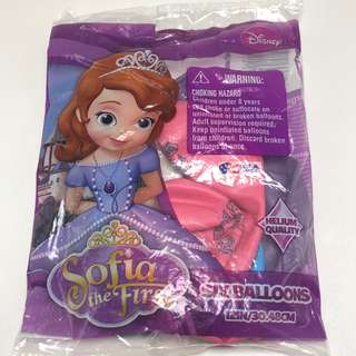 """12"""" Sofia The First Latex Balloons (5pcs)"""