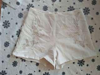 White short (my embroid sya design)