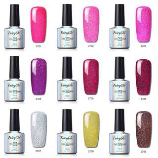 (PO) 45Colors 10ml Neon Bling Nail Gelpolish