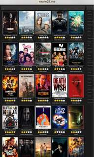 MOVIES for SALE (5movies for P100)