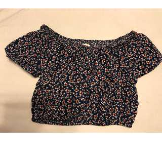 Garage Clothes: Off the shoulders crop top ...Size XS