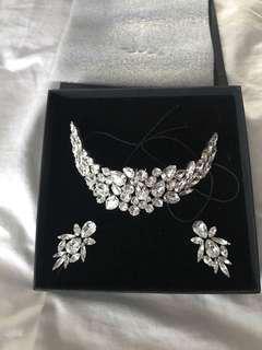 Gorgeous diamanté matching set