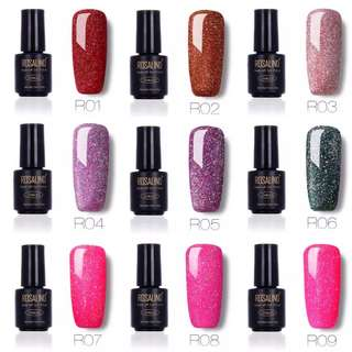 (PO) 29 Colors 7ML Rainbow Shimmer R01-29 Gel Nail Polish