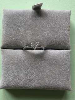 18K真鑽石心型戒指💍