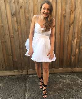 White Backless dress - HIRE