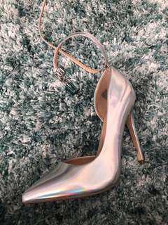 Holographic heels justfab
