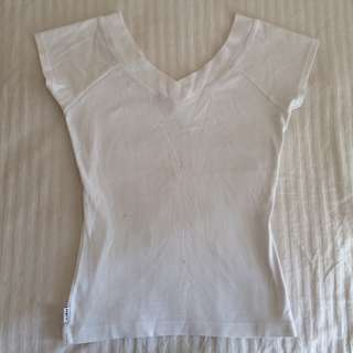 Esprit deep V neck top