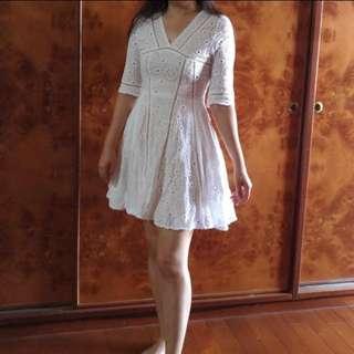 🚚 正韓 白色洋裝
