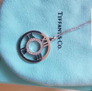 18k Tiffany Large Medallion Diamond Necklace