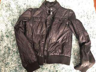 Black moto style jacket
