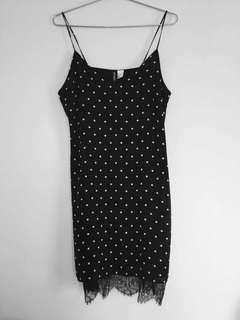 BNWT Black and White Slip Dress