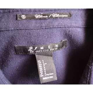 Forever21 Navy Long Sleeve Buttondowm