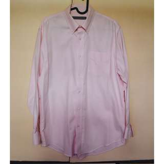 Giordano Light Pink Long Sleeve Button down Polo