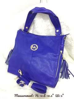 MK 2 way bag royal blue