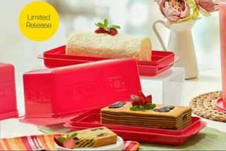 Tempat Roti Kue Merah Tuppy