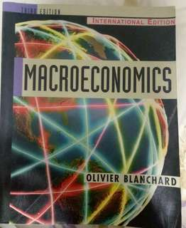 Macroeconomics Third Edition by Oliver Blamchard